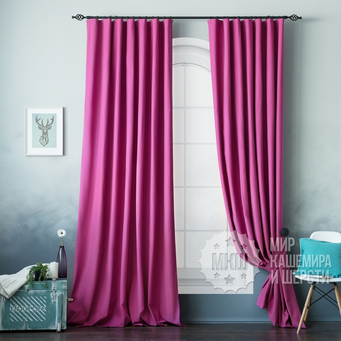 Curtains for the living room: Billy (art. BL01-109-02) - (170x270) x2 cm. - fuchsia