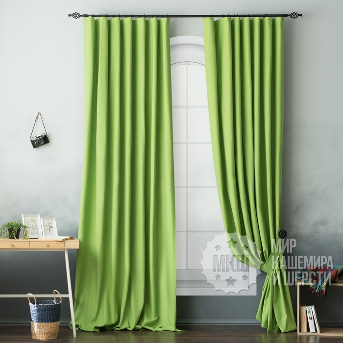 Curtains for the living room: Billy (art. BL01-109-03) - (170x270) x2 cm . - green