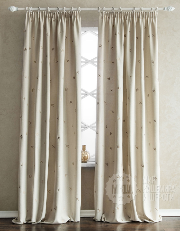 PRIMM finished curtains (art. BL01-245 -03) - (145x280) x2 cm. - cream